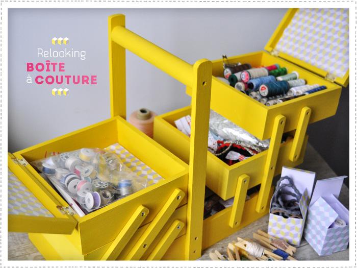 By plou blog de diy d co cuisine des motifs cube 70 for Boite a couture tres originale
