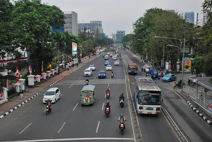 Gran avenida de Yakarta