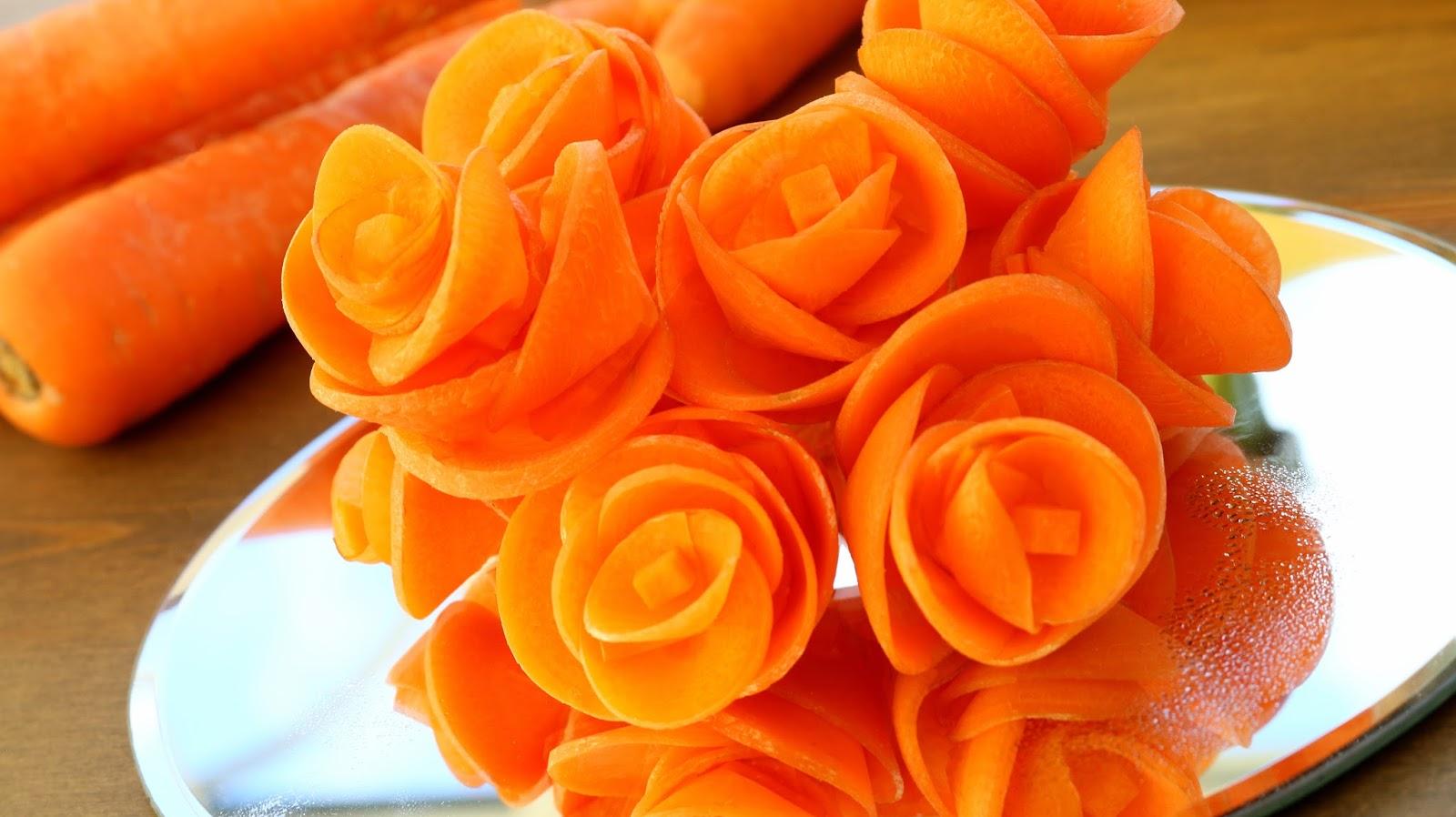 Как сделать цветы из моркови или из свёклы
