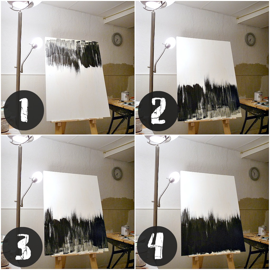 Simple But Striking, Black + White DIY Abstract Painting | Dans le ...