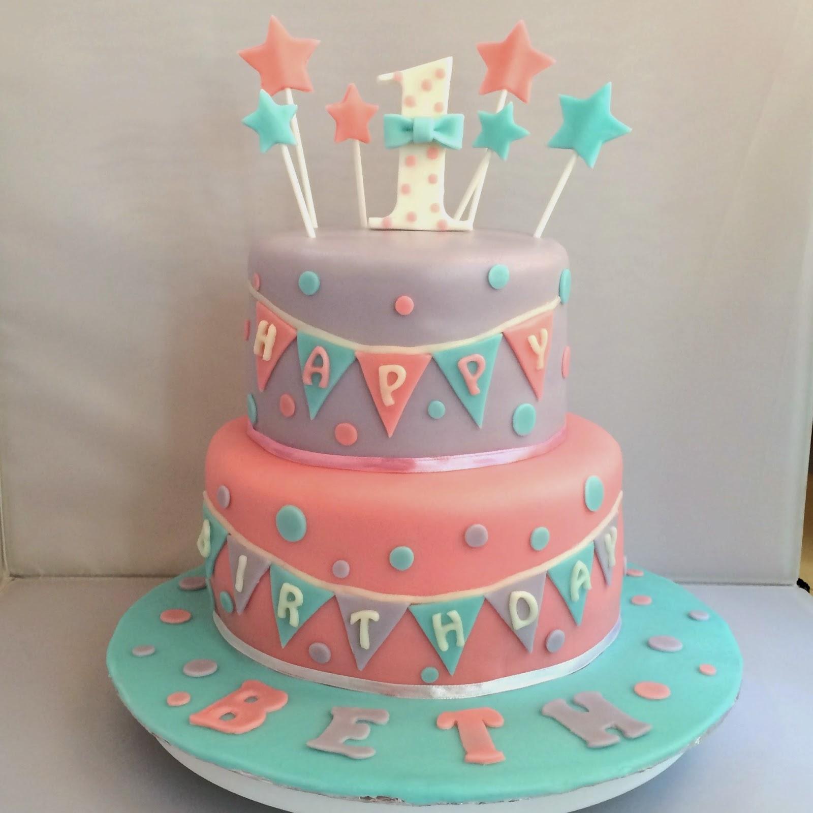 Sherbakes Sweet Pastel Birthday Cake
