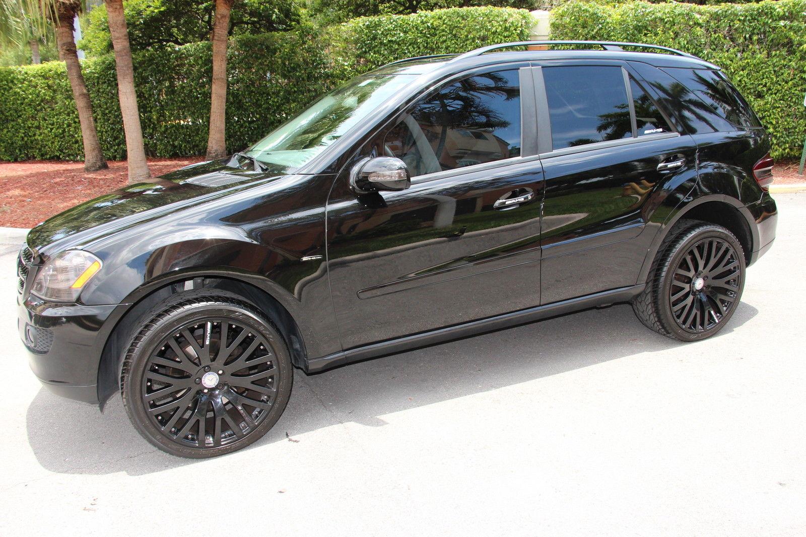 Black On Black Mercedes Benz W164 Ml350 Benztuning