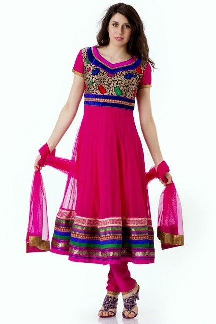 Best Indian Churidar Suit in Pink Color