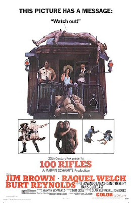 Official movie poster for 100 Rifles starring Raquel Welch
