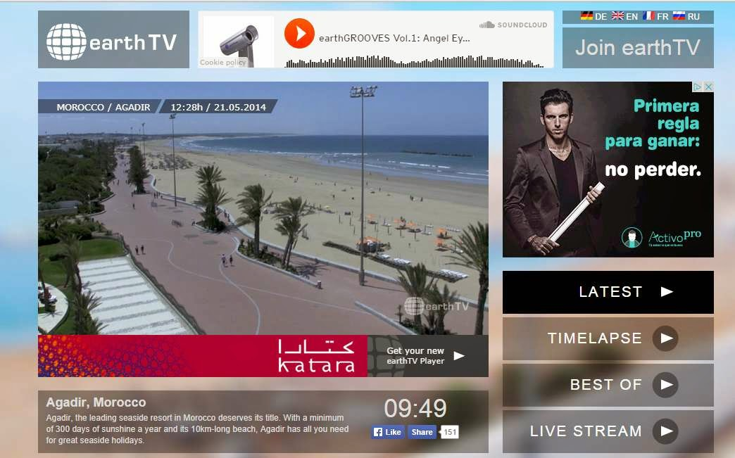 موقع لمشاهدة مدن حول العالم في بث مباشر