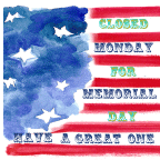 Closed Monday