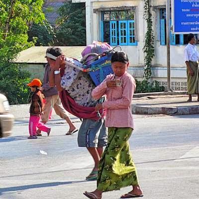 Grenzverkehr Thailand Myanmar