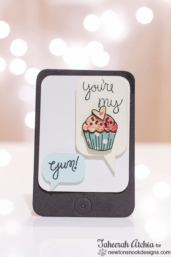 iphone cupcake card by Taheerah Atchia for Newton's Nook Designs