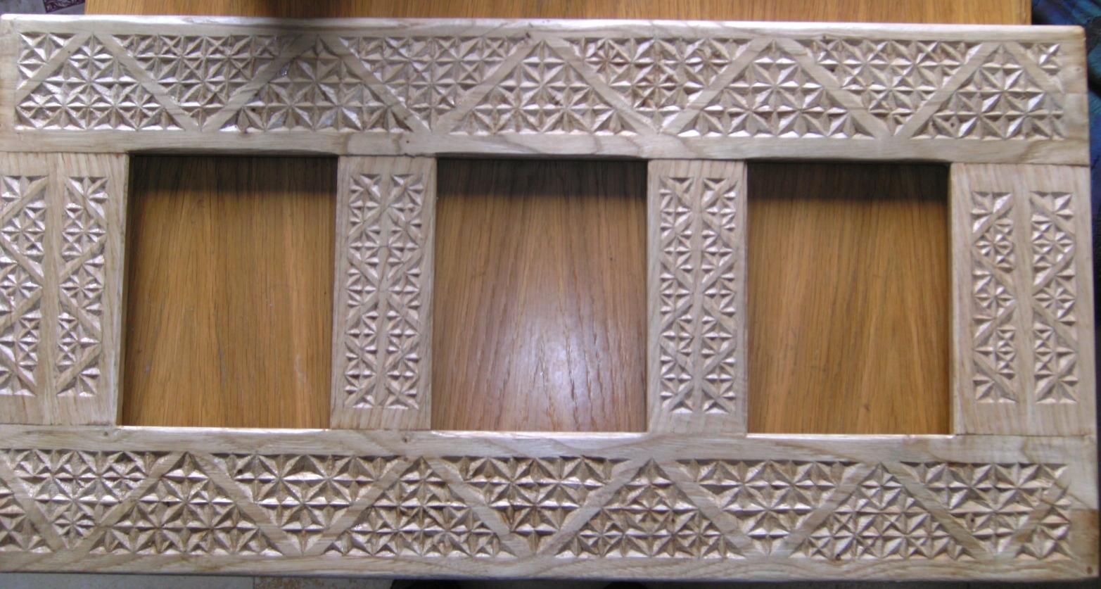 Espejo tallado en madera de casta o ii el acabado for Espejos tallados