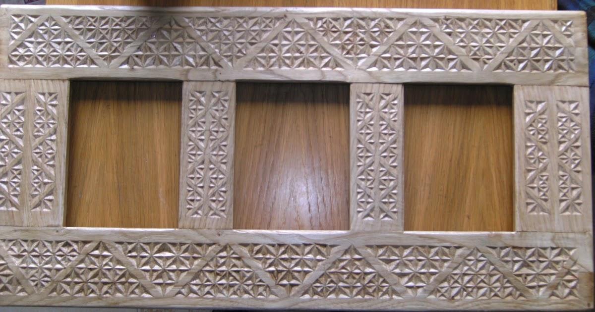 Espejo tallado en madera de casta o ii el acabado for Disenos de espejos tallados en madera