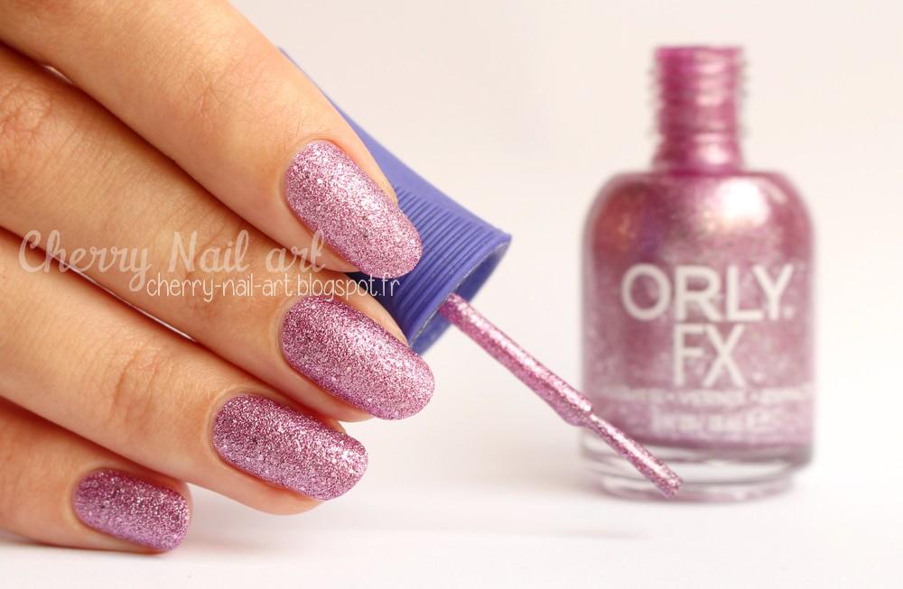 Vernis texturé Orly Pink pixel collection mega pixel fx