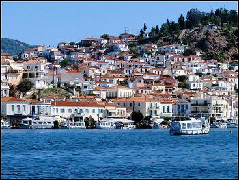 Vistas de Poros desde Galatas - Islas Griegas