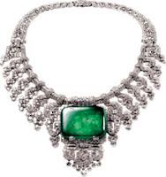 colar jóia brilhantes diamante esmeraldas rubi cordão lindo caro sonho beleza bijuteria imitação