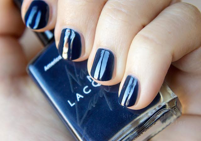 vampy shades nail polish dark blue american apparel passport