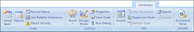 cara menampilkan tab developer di excel