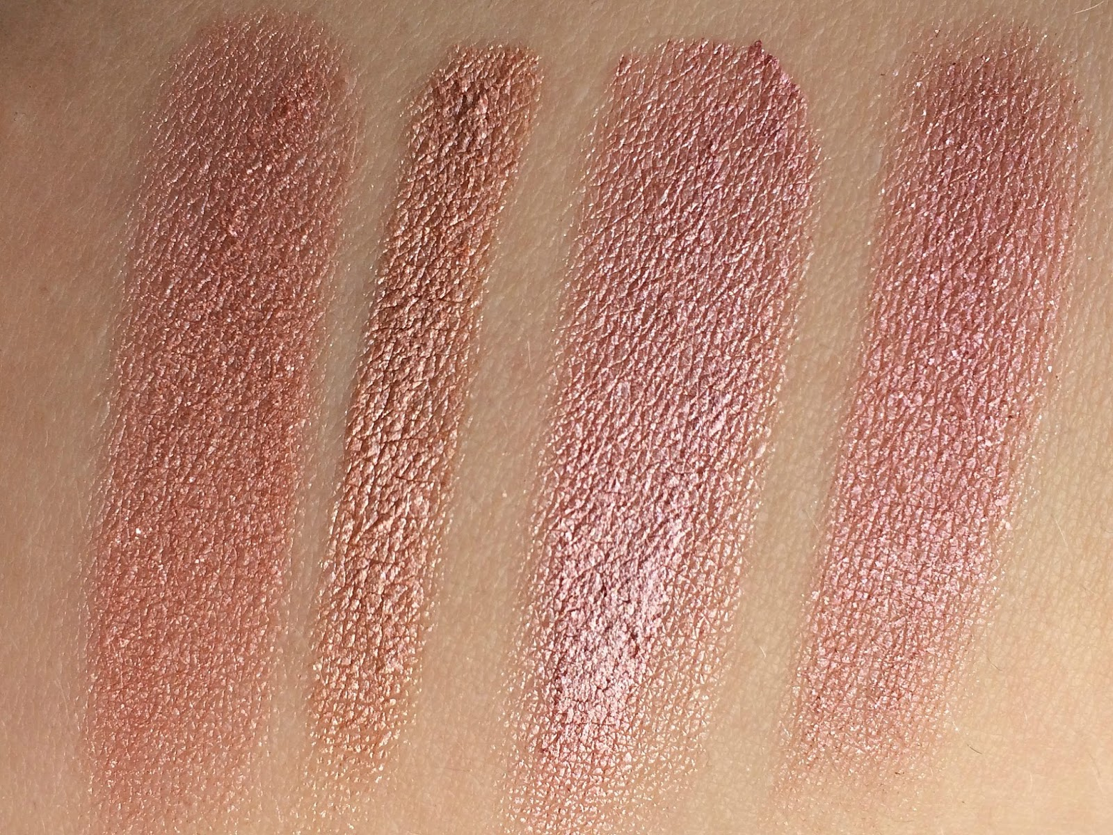 Rose-Gold-Eyeshadow-Swatches