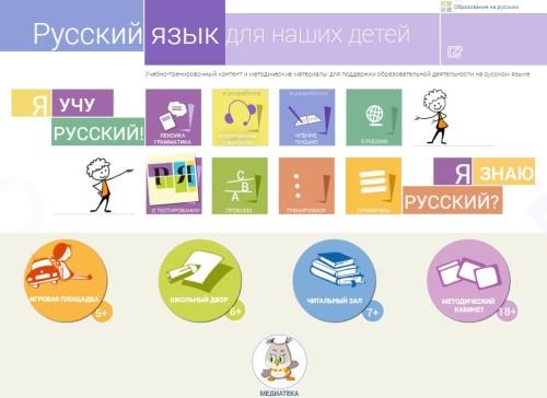 Русский язык для учеников