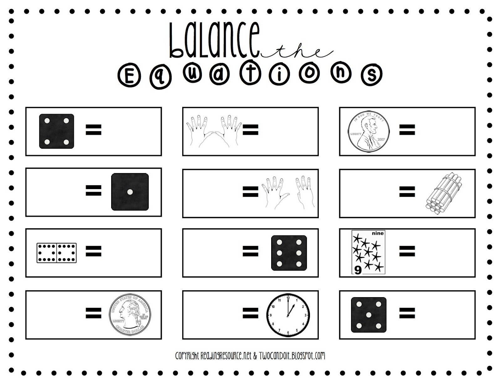 math worksheet : 1st grade equal equations worksheet balance scale worksheet  : Balancing Math Equations Worksheet