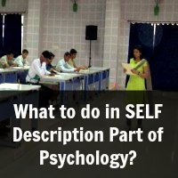 What to do in SELF Description Part of Psychology?