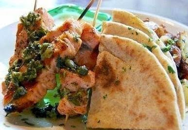 cara membuat kebab salmon, ikan salmon, kebab, resep kebab salmon