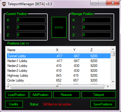 S4 League Hile Teleport Manager 06.01.2013 indir