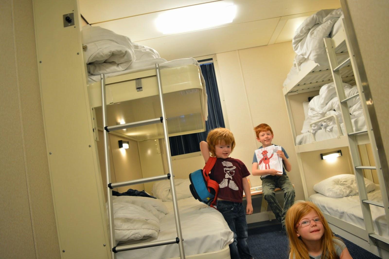 Inside a DFDS Seaways 5 berth family cabin