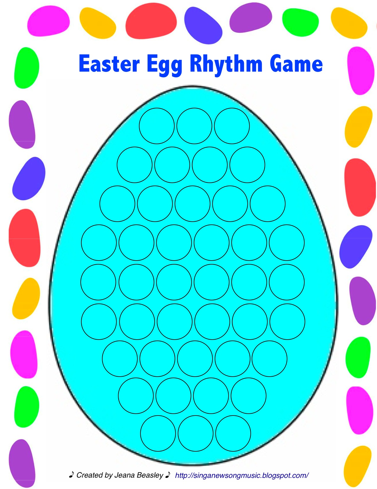 Sing a New Song: Easter Egg Rhythm Worksheet