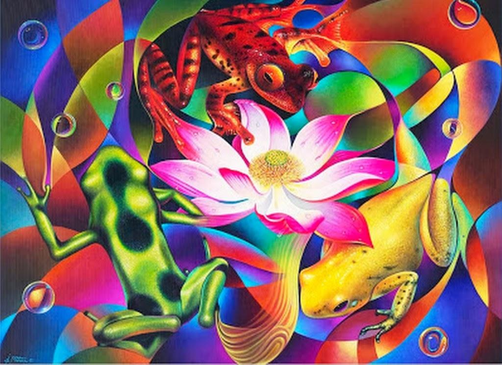 Cuadros modernos pinturas y dibujos dise os de flores - Como pintar un cuadro moderno ...