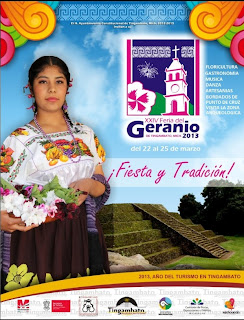Geranium Fair in Tingambato close to Patzcuaro