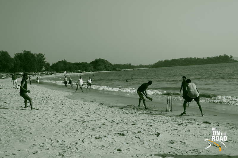 Beach cricket at Goa, India