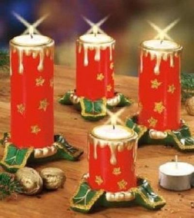 Adornos navide os con tubos de papel for Adornos navidenos hechos con reciclaje