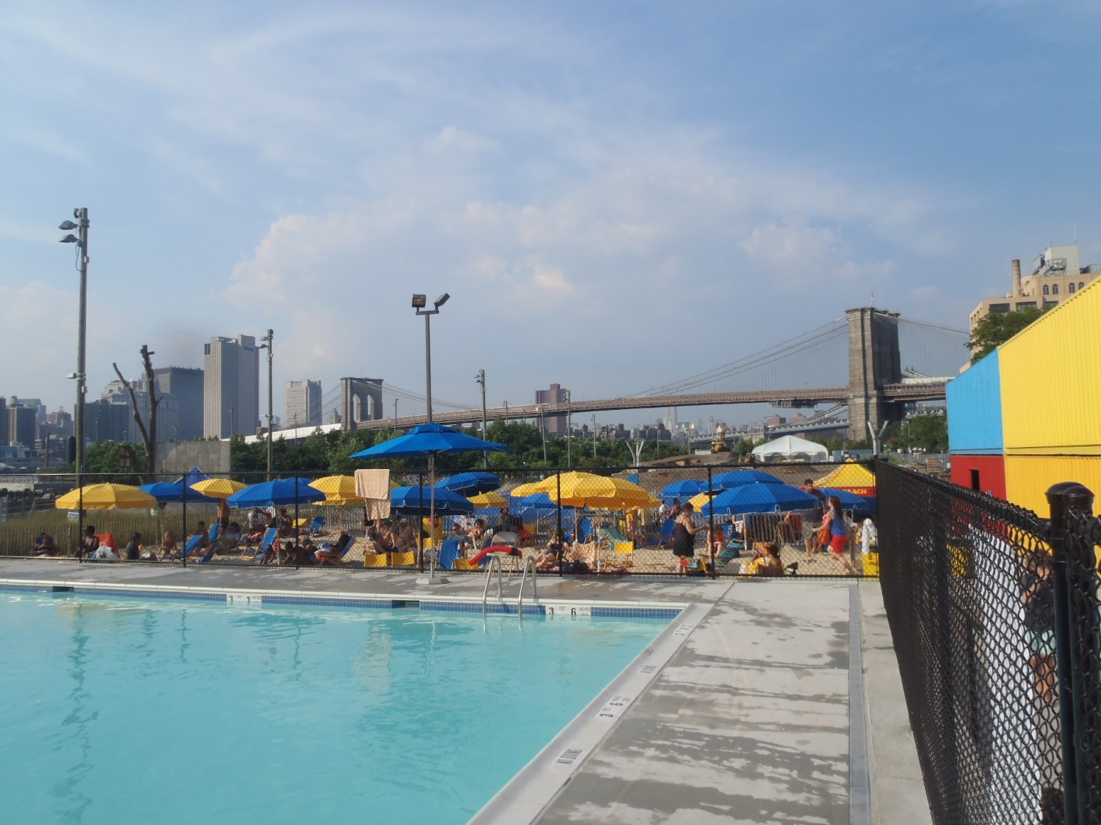Australian Abroad Brooklyn Bridge Park Beach And Pop Up Pool