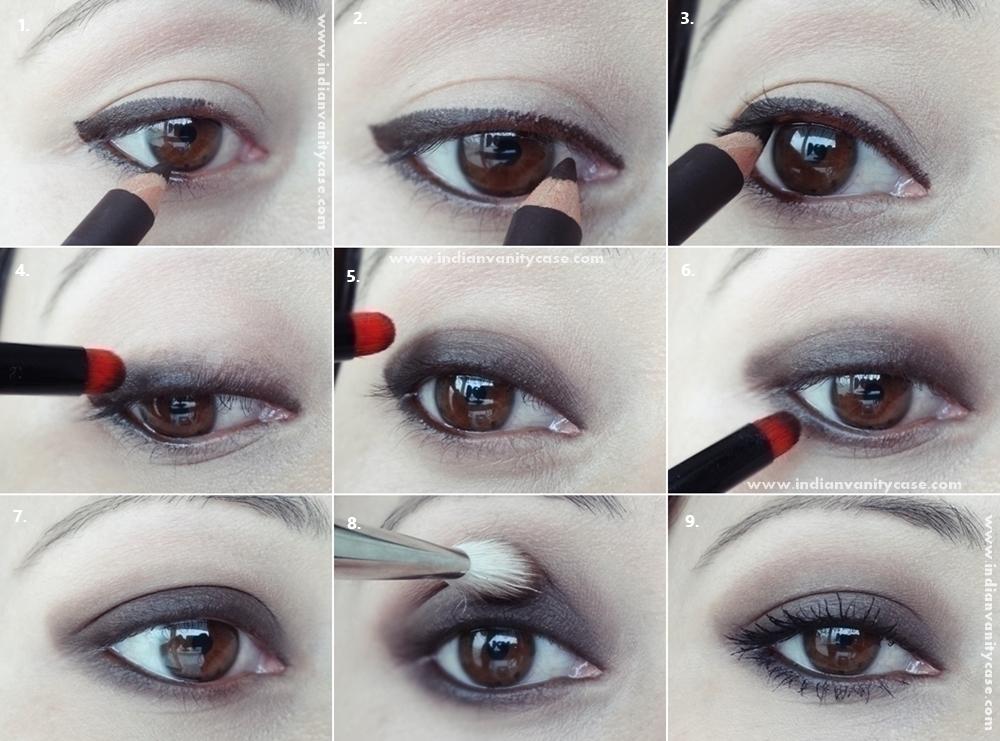 Indian Vanity Case: Just Kohl Pencil Smoky Eye Makeup ~ Step-By ...