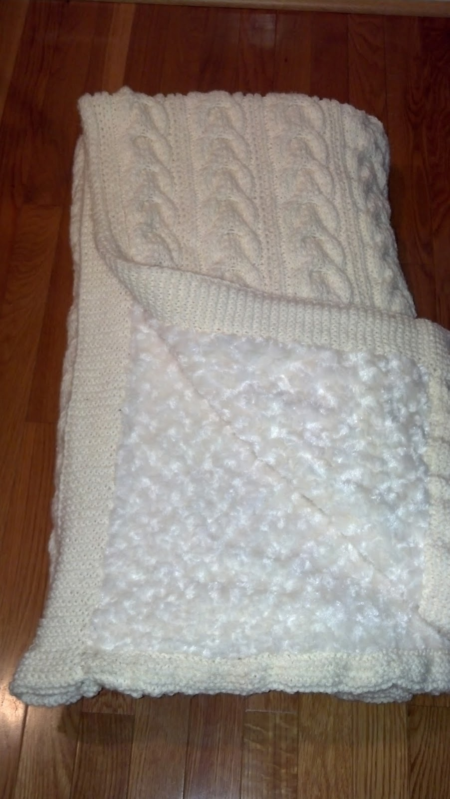 Pattern: Pottery Barn Cable Knit Throw | Knit A Bit Crochet Away