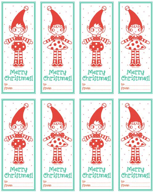 haz clic aqu para imprimir estas lindas etiquetas para tus regalos de navidad