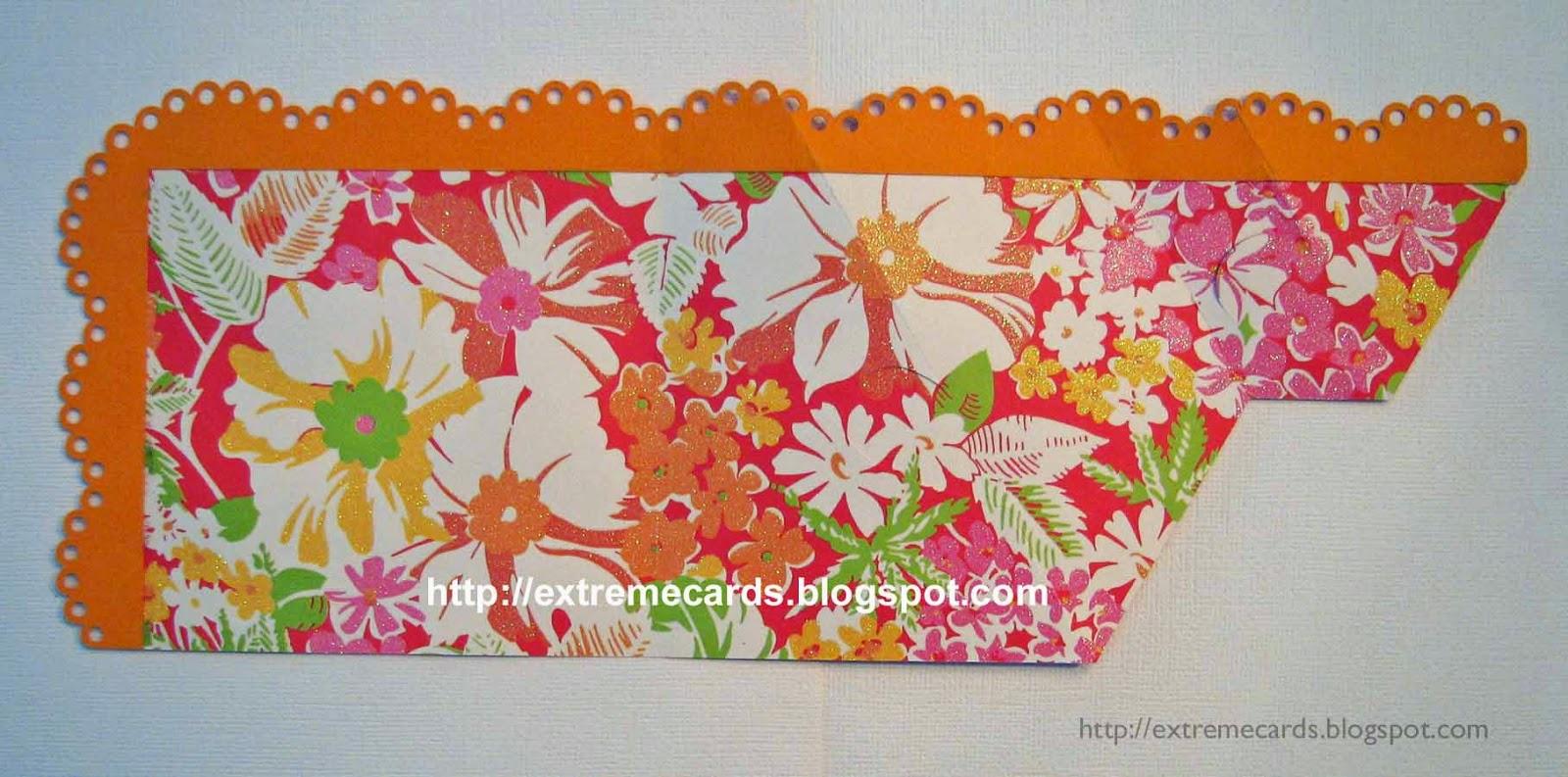 cut base card and adhere lace
