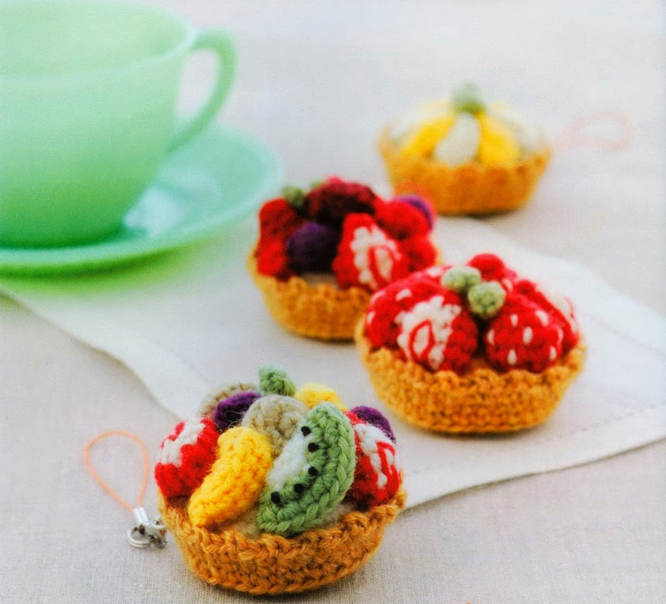 Free Japanese Craft Patterns: Fruit Tarts Amigurumi ...
