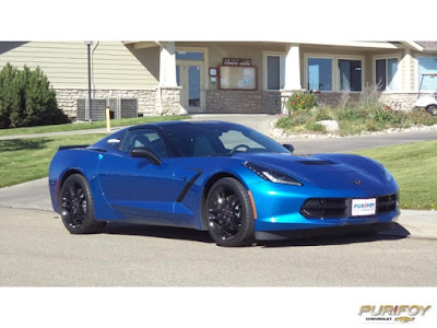 2016 Corvette in Laguna Blue at Purifoy Chevrolet