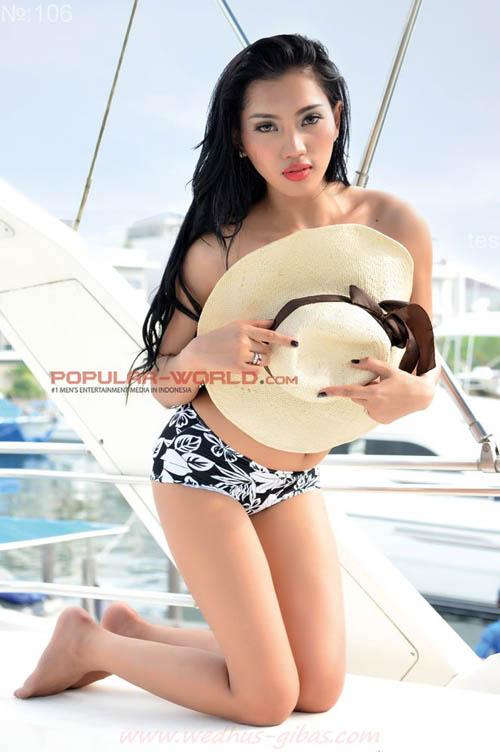Cicha Claudya Model Majalah Popular Swimsuit Edition