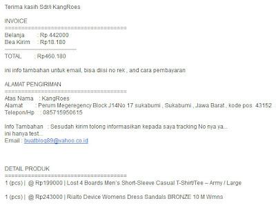 invoice toko online wordpress