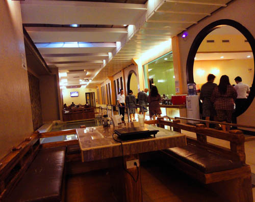 After the one-hour body massage, we headed for the dining area to feed ...