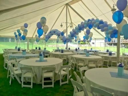 Decoración con globos azules