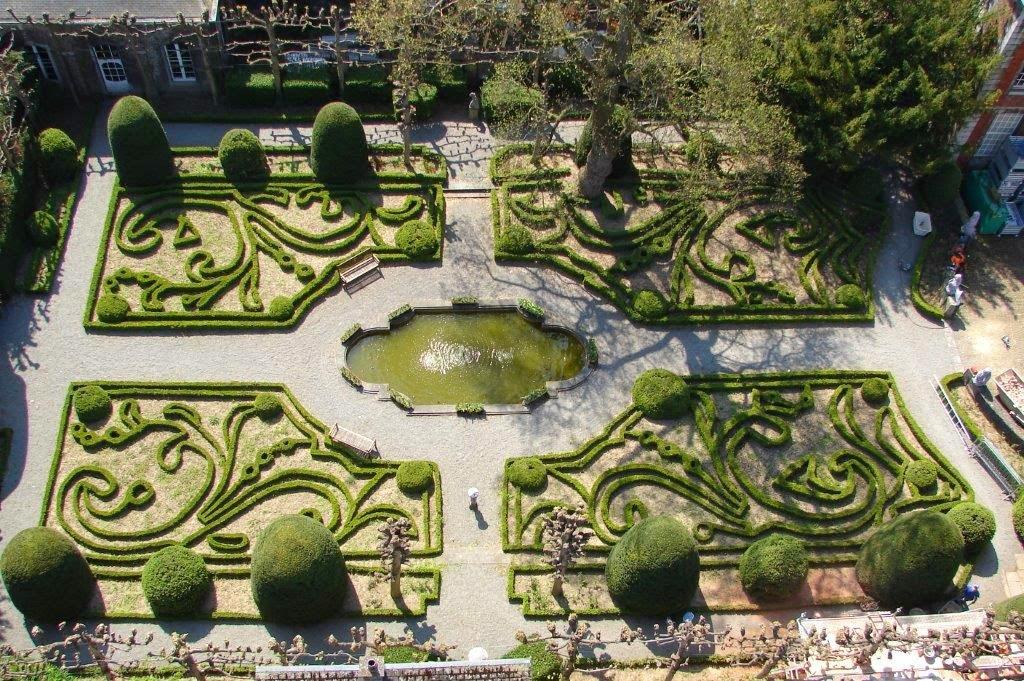 Le jardin vu du haut