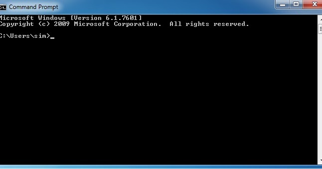 how to run command prompt windows 7
