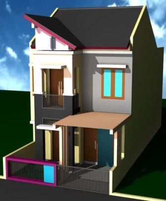 desain rumah minimalis modern 2 lantai type 21