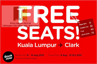 AirAsia FREE SEATS Sale 2012