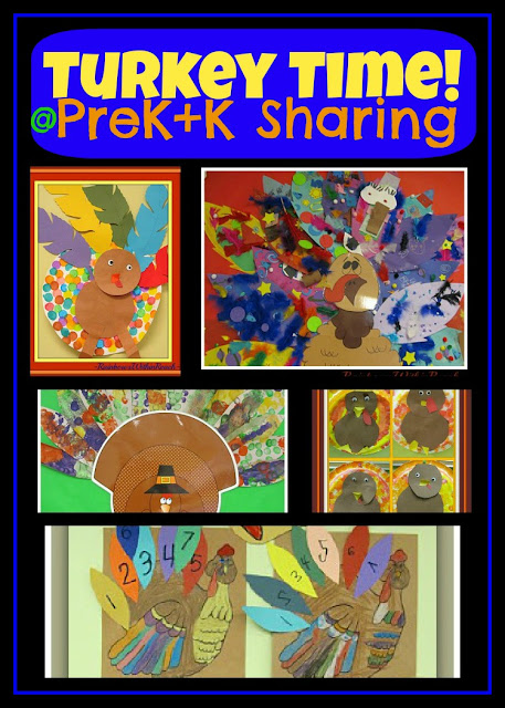 "photo of: ""Turkey Time"" Art Projects for Preschool + Kindergarten via PreK+K Sharing"