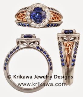Vintage Celtic Knot Engagement Ring