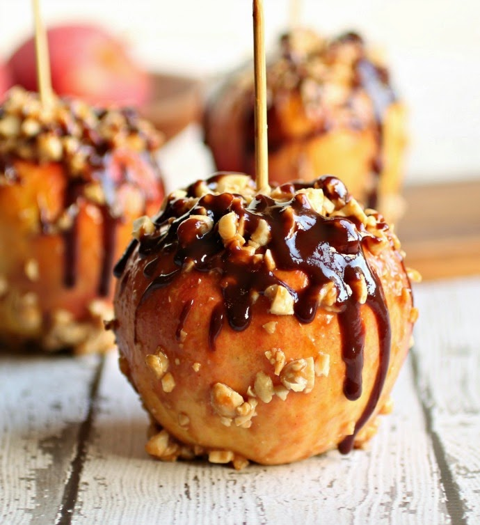 Nutty Peanut Buttery Caramel Apples