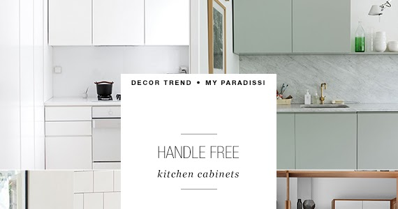 DECOR TREND: Handle free kitchen cabinets | My Paradissi